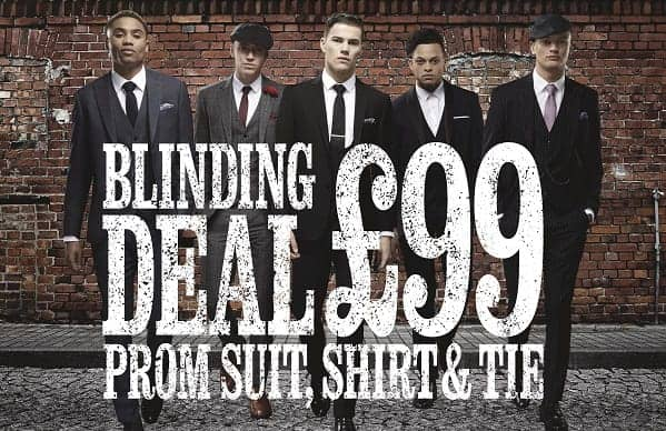 Prom Suit, Shirt and tie £99