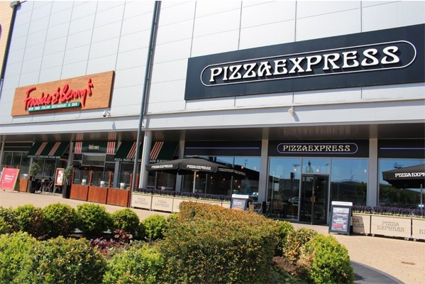 Pizza Express and Frankie and Bennys at Dalton Park