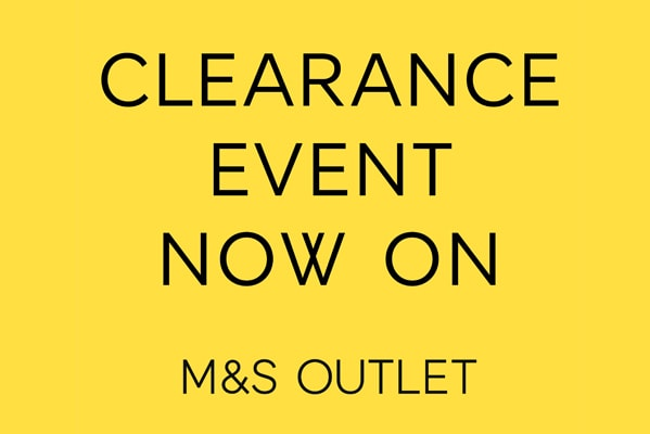 M&S Outlet Clearance event