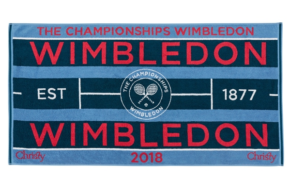 WIMBLEDON TOWELS NOW INSTORE