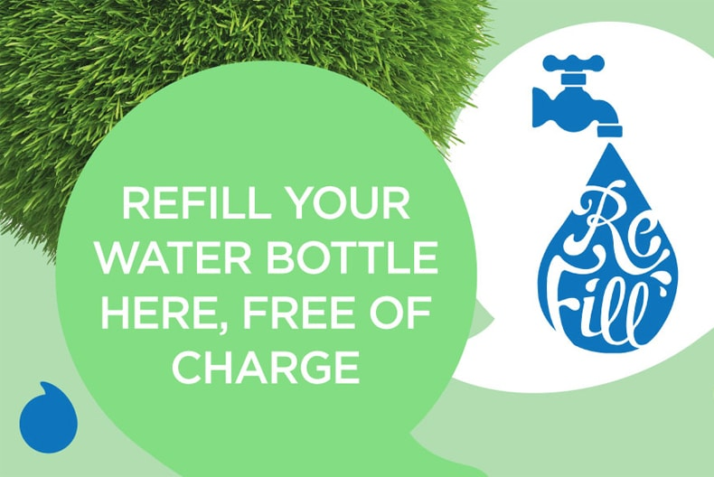 Re-fill your water bottle free of charge