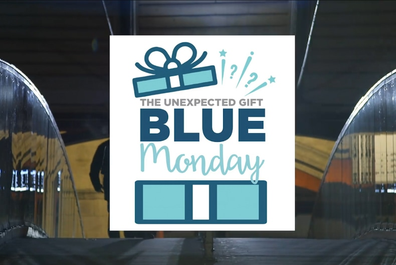 Blue Monday. An Unexpected Gift