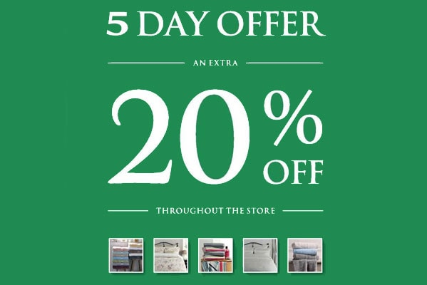 An extra 20% off everything in store.