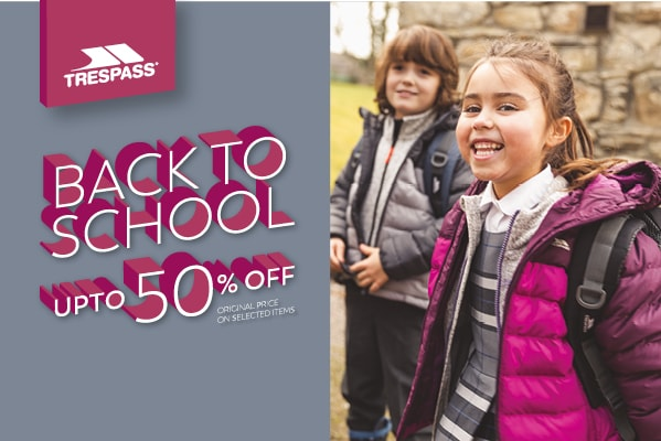 Trespass UP TO 50% OFF BACK TO SCHOOL