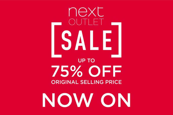 Next Outlet Sale Now On | Save up to 75%