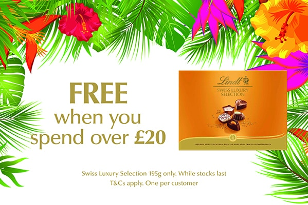 Lindt Free Lindt Swiss Luxury Collection when you spend over £20