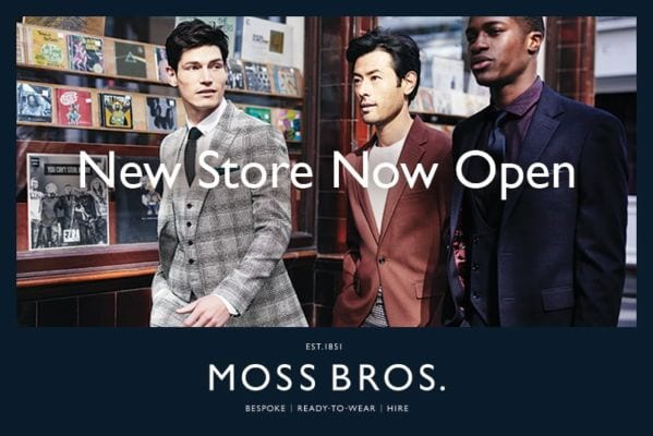New Moss Bros Store Now Open