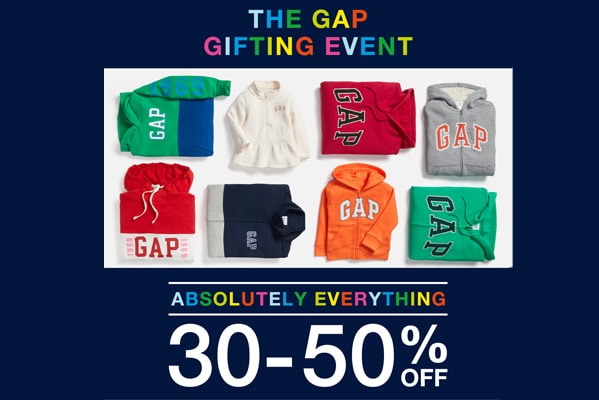 GAP Outlet The Gap Gifting Event | 50% off favourite gifts