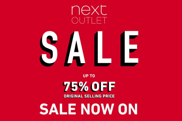 Next Outlet Sale Now On | Up to 75% off