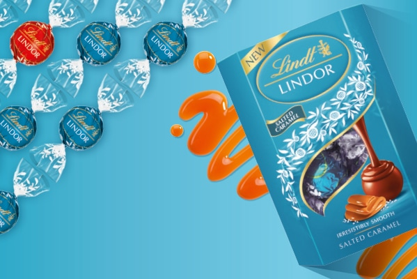 Lindt Brand new Lindor Salted Caramel 200g box | 2 for £8