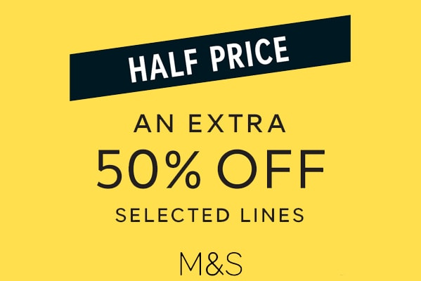 M&S Outlet An extra 50% off selected lines