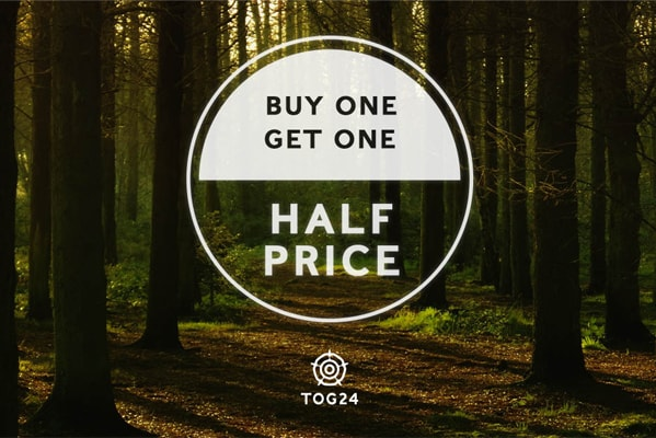 Tog 24 Buy one get one half price on selected lines.
