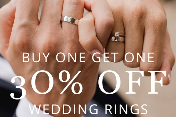 Chapelle Jewellery Buy one get one 30% off on wedding rings
