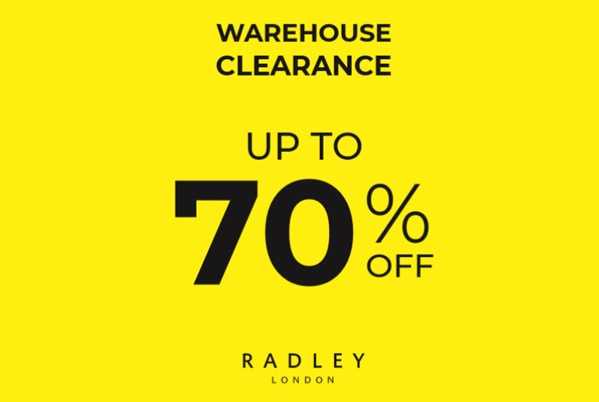 Radley Warehouse Clearance! Up to 70% off.