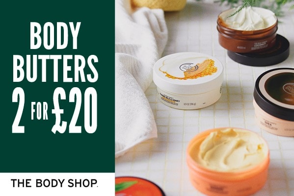 The Body Shop 2 for £20 on Body Butters