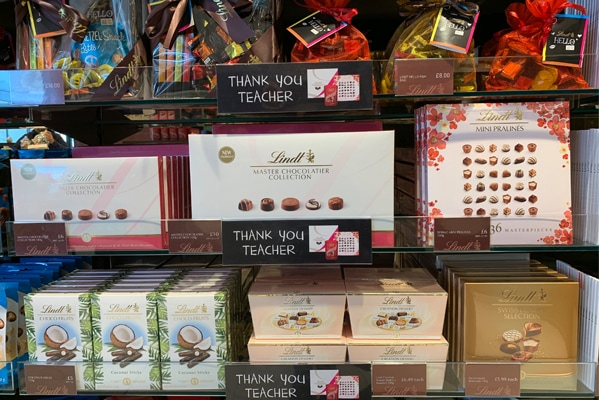Lindt Thank you teacher gifts from £4.99