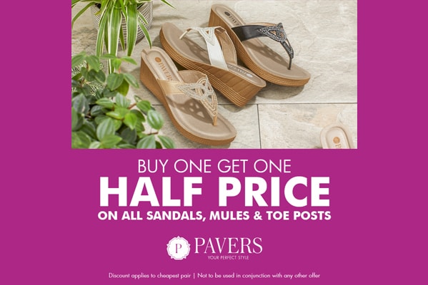 Pavers BUY ONE GET ONE HALF PRICE ON ALL MULES, SANDALS & TOE POSTS