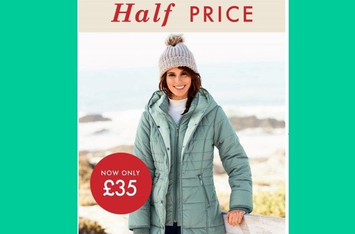 50% Off Padded Hooded Coat