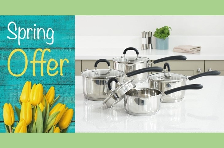 ProCook Spring Offers – Gourmet Stainless Steel4 piece cookware set