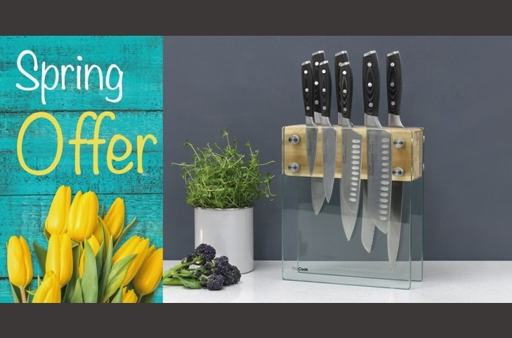 ProCook Spring Offers – Professional X508 piece knife set with glass knife block