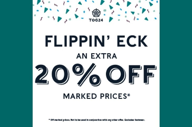 20% off all marked prices