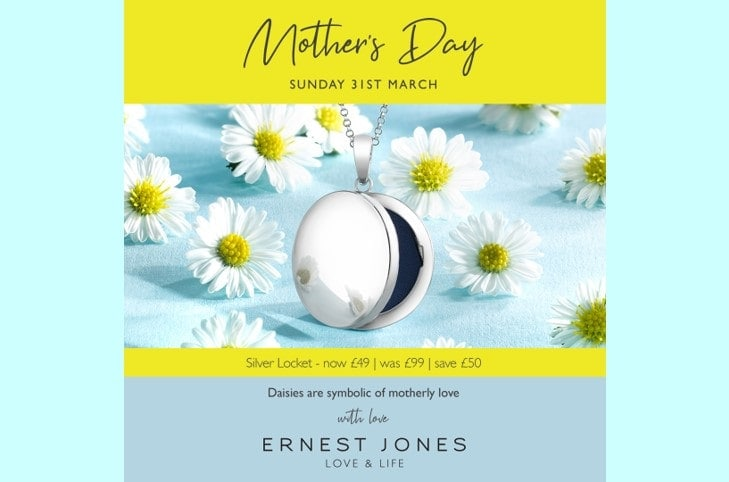 Mother's Day Offer – Silver Locket only £49