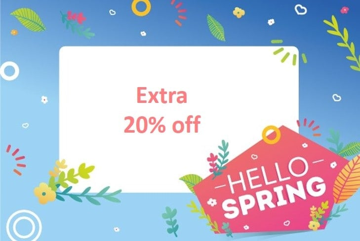 Hello Spring – Extra 20% Off