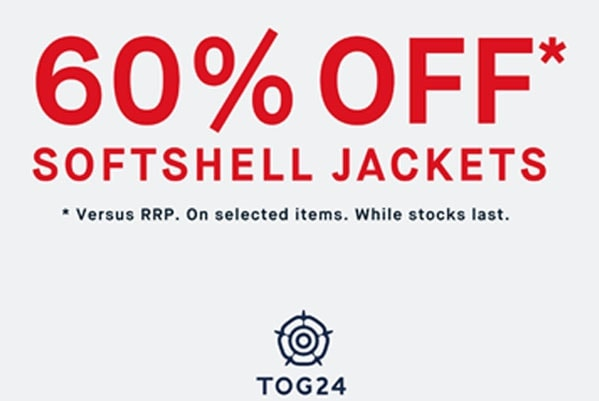 60% off Softshell Jackets