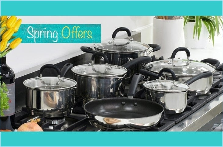 ProCook Spring Offers – 6 piece cookware set + free steamer insert