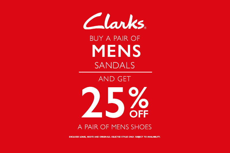 Buy a pair of Men's Sandals and get 25% off Men's Shoes
