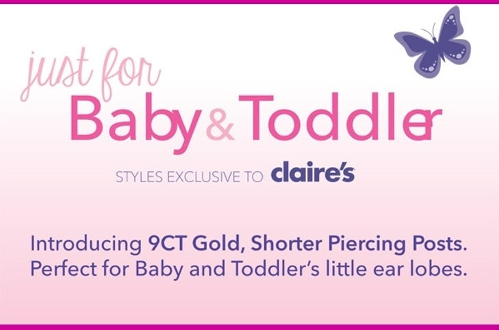Claire's Baby & Toddler Ear Piercing