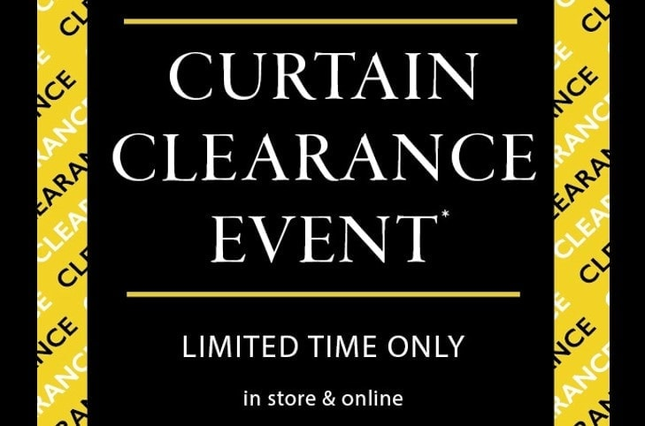 Curtain Clearance Event Now On
