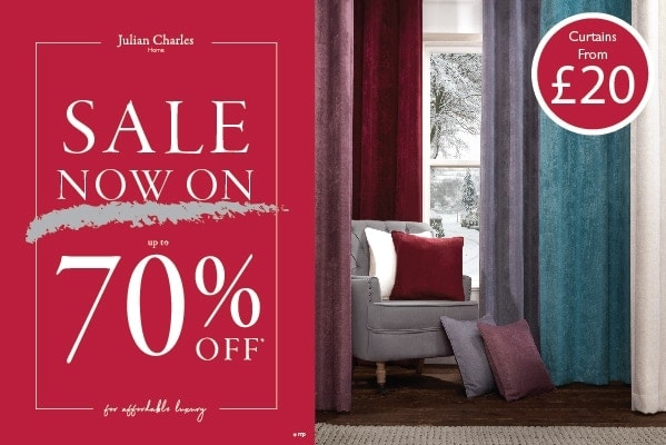 Julian Charles Summer Sale Now On – Curtains from £20