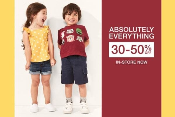 GAP Outlet 30%-50% off absolutely everything