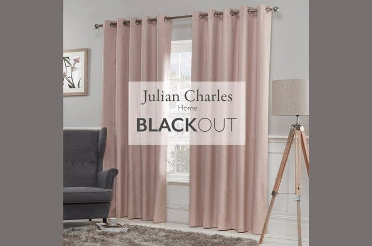 Julian Charles Luna Blackout Curtain Collection 50% Off RRP