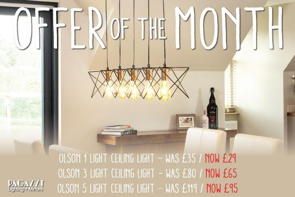 Pagazzi Offer of the month – Olson Ceiling Light Range