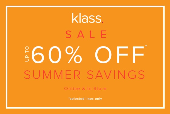 Klass Summer Savings – Up to 60% Off