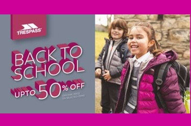 Trespass Back to School – Up to 50% Off