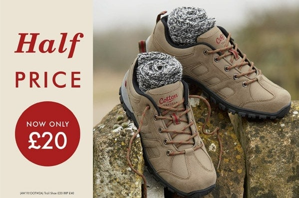 Cotton Traders Half Price Trail Shoes