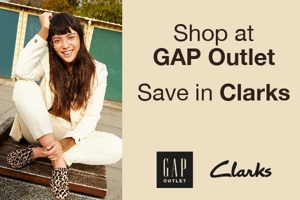 Clarks Shop at GAP Outlet save in Clarks this September