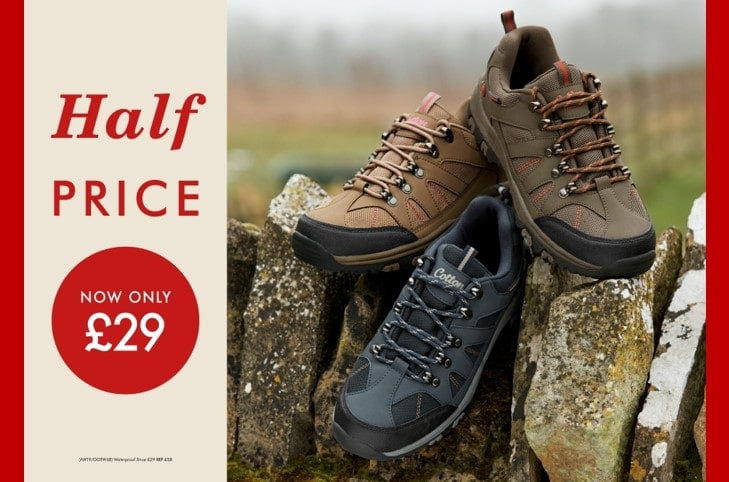 Cotton Traders 50% Off Waterproof Shoes