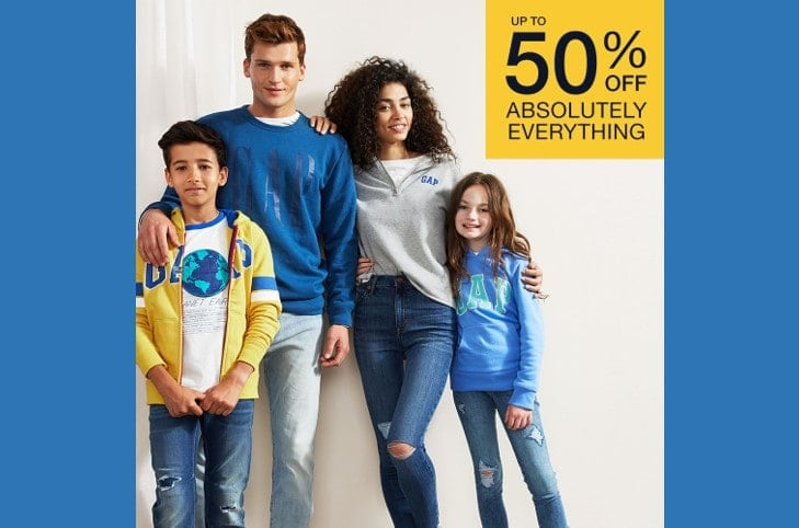 GAP Outlet Up to 50% Off Absolutely Everything