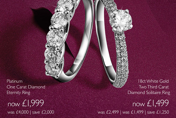 Ernest Jones Up to 50% Off Diamond rings