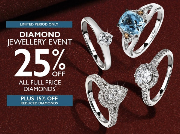 Ernest Jones Diamond Jewellery Event – 25% Off