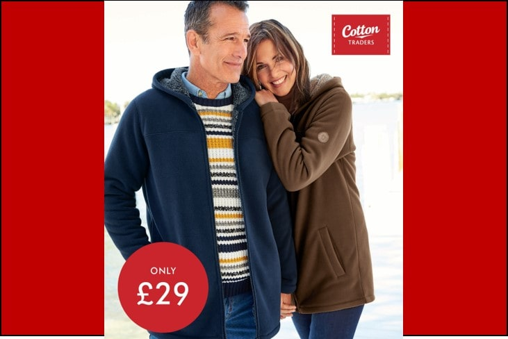Cotton Traders Half Price Microfleece Bonded Jacket