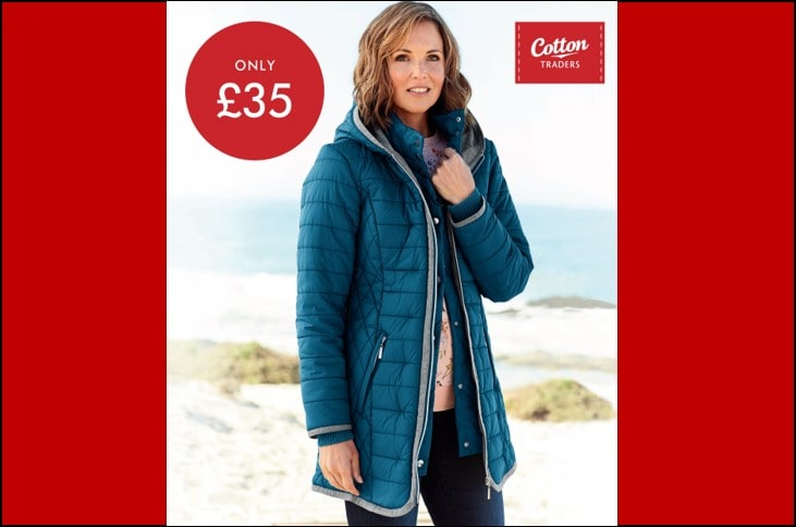 Cotton Traders Half Price Padded Hooded Coat