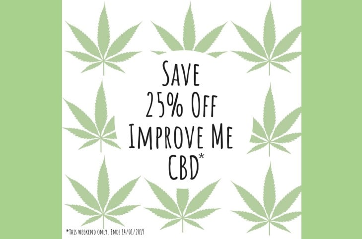 Grape Tree 25% off Improve Me CBD oils and capsules