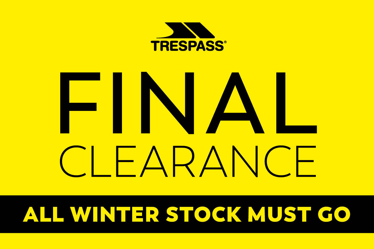 Trespass Winter Final Clearance Event – Up to 70% Off