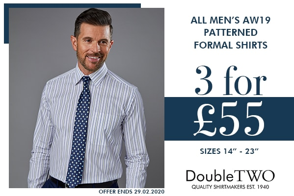 Double Two Selected Men's Formal Shirts 3 for £55