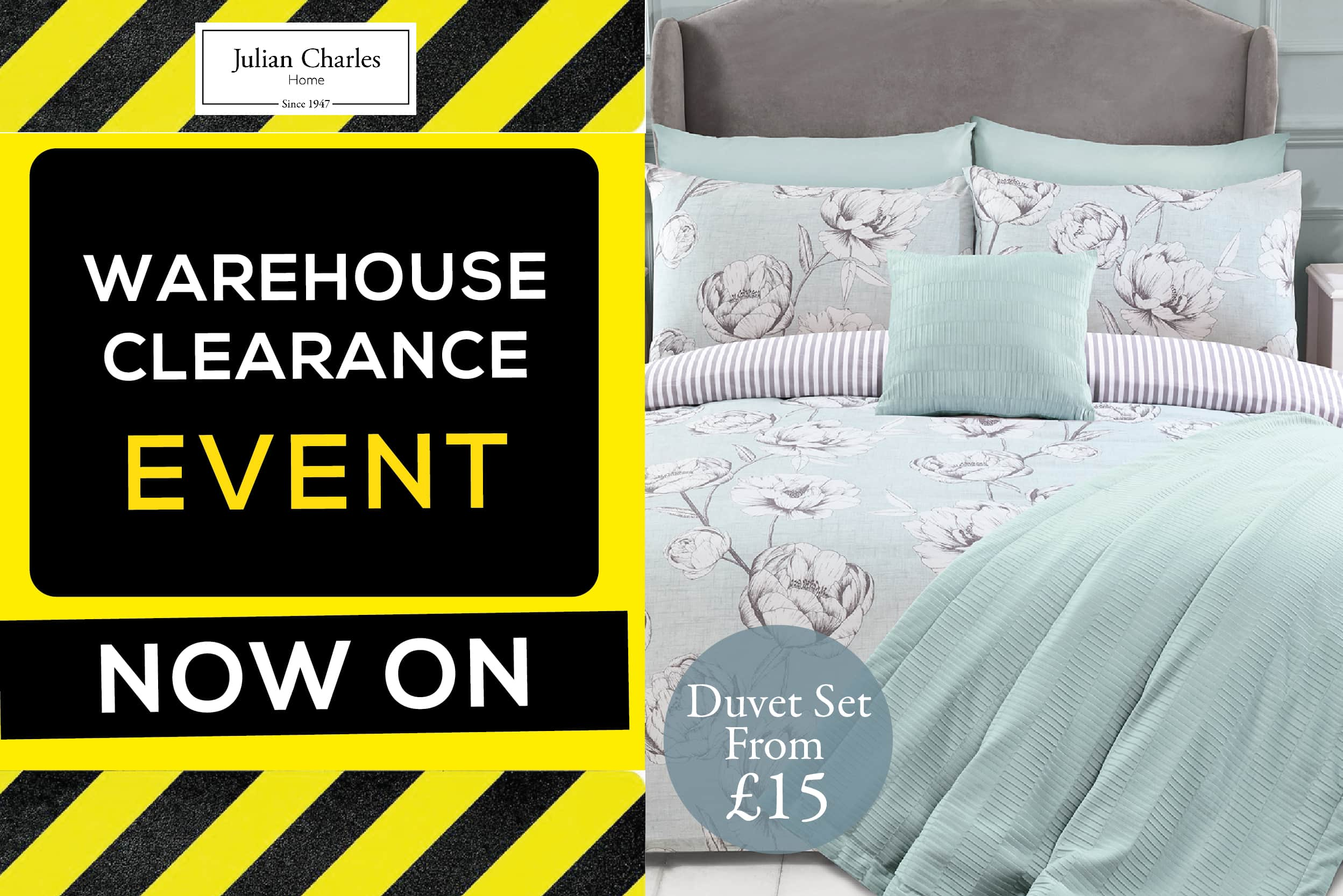 Julian Charles Warehouse Clearance Now On